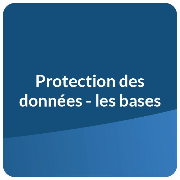 Protection des données - les bases