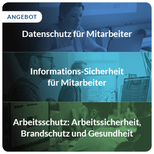 E-Learning Sparpaket Datenschutz Informationssicherheit Arbeitsschutz