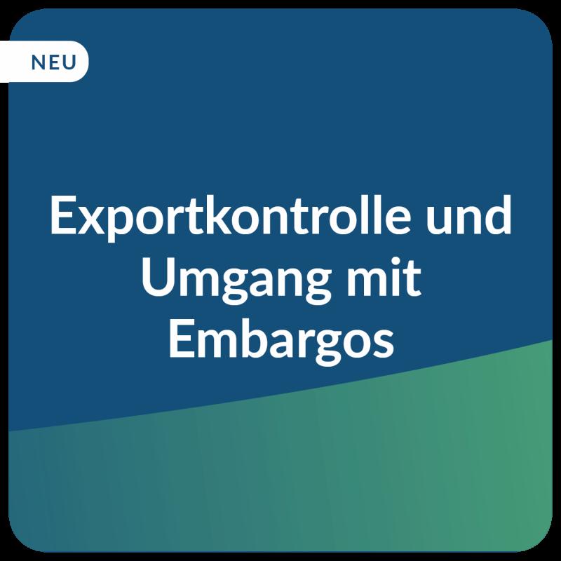 E-Learning Exportkontrolle