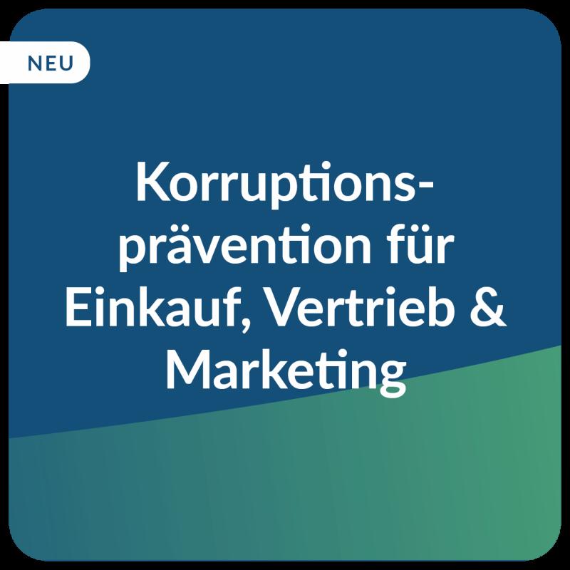 E-Learning Korruptionsprävention Fokus